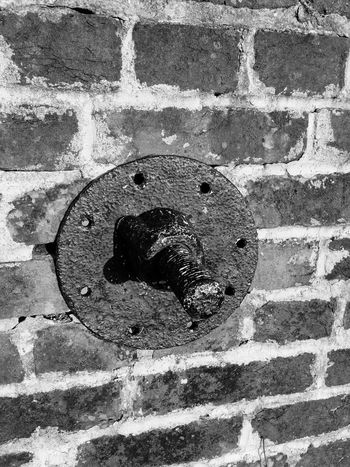 Feature at Fort Pickens Brick Wall Detail Fort Pickens Fortpickens Historic Historic Site Historical Sights Screw Textured  Wall - Building Feature
