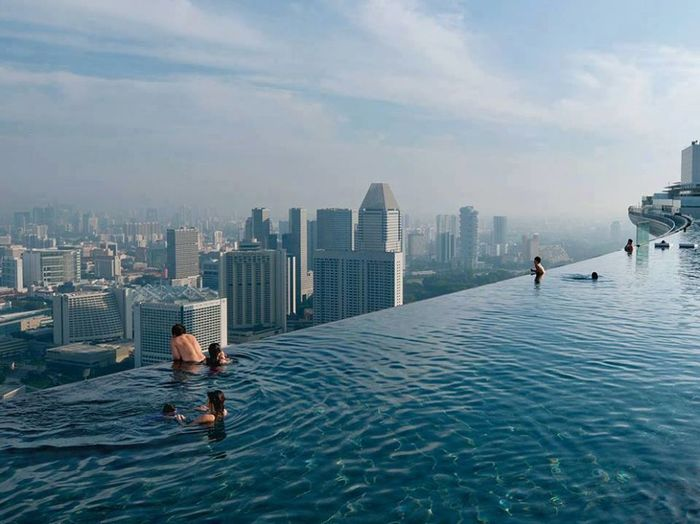 A swim on the 57th floor