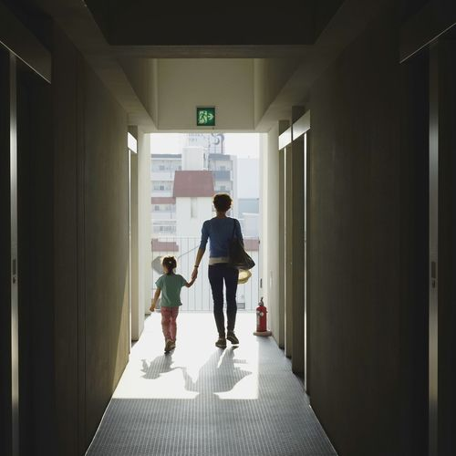 Family In Corridor
