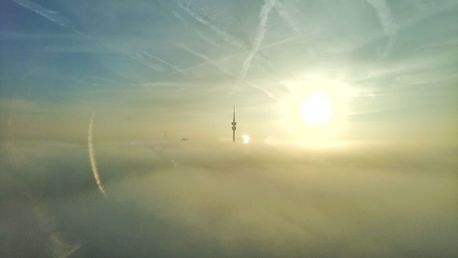 Sunset Nature Sun Sunlight Reflection Sky Beauty In Nature Outdoors Tranquility Sand Sunbeam Beach No People Day Refraction Water Fog Olympiapark München Foggy Morning Foggy Landscape Olympiaturm Sunlight Office View HBoB Officeview