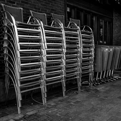 Look seriousely Taking Photos Blackandwhite Seat Pub Streetphotography Man Belgium Tournai Sony Window Beautifully Organized A Large Group Of Objects Objects