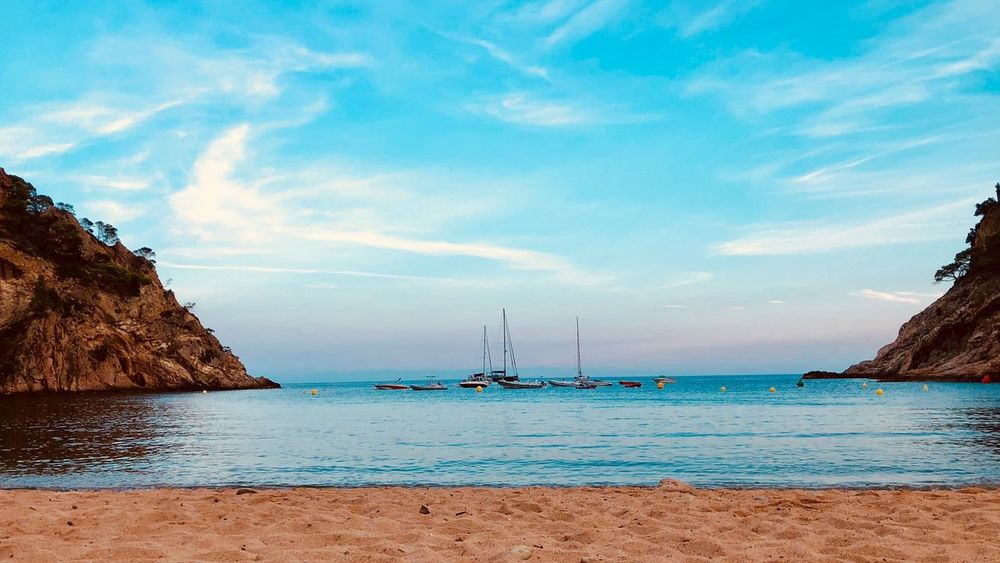 Tossa de Mar #girona #CATALUNYA #catalonia #Playa #beach Water Sky Sea Cloud - Sky Beach Land Beauty In Nature Nature Day Scenics - Nature Blue Horizon Over Water No People Tranquility Outdoors Tranquil Scene