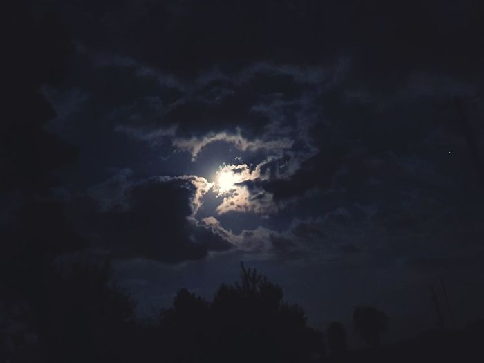 #moon #sky #blue #fantastic #half #moon#clouds Night Sky