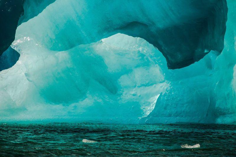 Iceberg at the Jökulsárlón Glacier Lagoon in Southeast Iceland. Water Sea Scenics Nature Blue Iceberg - Ice Formation Majestic Glacier Landscape Crater, Icleland, Nature Jökulsárlón, Iceland