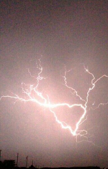 Lightning Show Spectacular Lightning Heart Shaped Bolt Of Lightning Light Up The Sky Night Storm