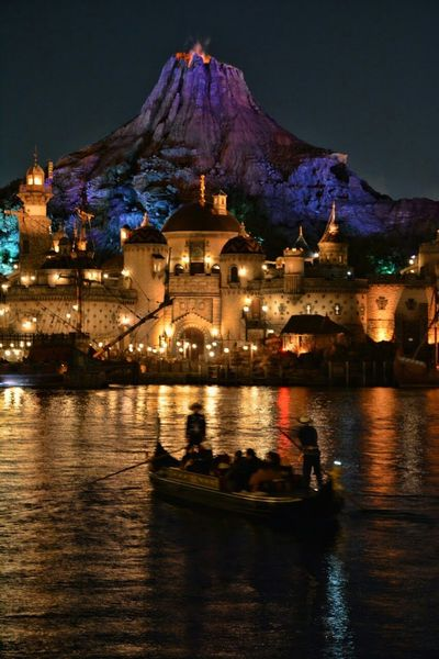 東京ディズニーシー 東京ディズニーシー Tokyo Disney Sea Nightphotography Night Lights Reflection Landscape