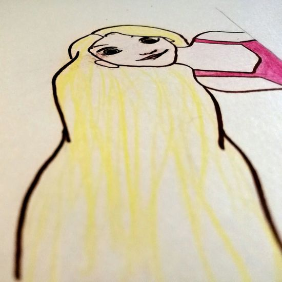 """"""" When will my life begin ? """" Rapunzel Fairytale  Fairy World White Background Drawing Drawingart Pencil Colorful Longhair Blonde Girl"""