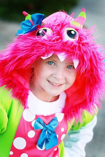 Child Childhood Close-up Costume Costumes Halloween Happiness Looking At Camera One Person People Pink Color Portrait Real People Red Smiling