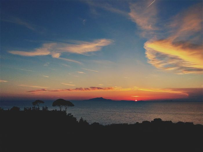Amazing Sunset. Beauty In Nature Day Landscape Nature No People Outdoors Scenics Sea Silhouette Sky Sunset Tranquil Scene Tranquility Water