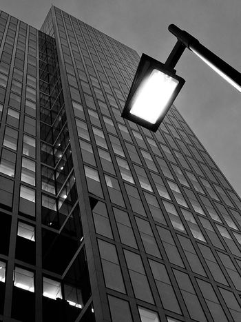 Skyscraper Germany Frankfurt Street Light Early Morning Low Angle View Lighting Equipment Architecture Built Structure Illuminated Building Exterior No People City Outdoors Sky