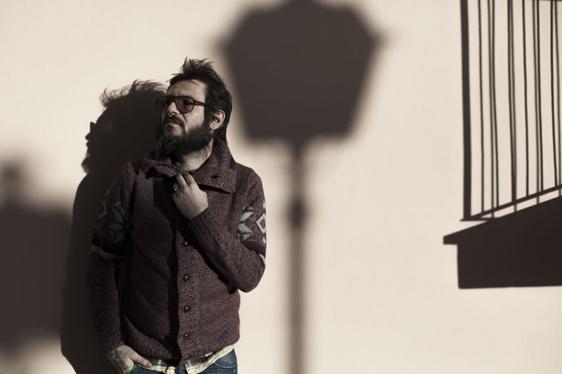 Fausto Light Shadowplay Shadows & Lights Adult Bad Habit Beard Day Eyeglasses  Fashion Focus On Foreground Lifestyles Light And Shadow Looking At Camera One Person People Portrait Portrait Of A Friend Portrait Photography Portraiture Real People Shadow Shadow-art Standing Urban Young Adult