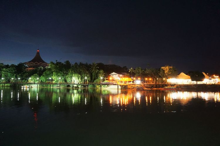 Reflection at Sarawak River Architecture Beauty In Nature Built Structure Idyllic Illuminated Kuching Nature Night On The Way Outdoors Reflection Reflection River Scenics Sky Standing Water This Week On Eyeem Tourism Tranquil Scene Tranquility Travel Destinations Water Waterfront Kuching Battle Of The Cities Colour Of Life