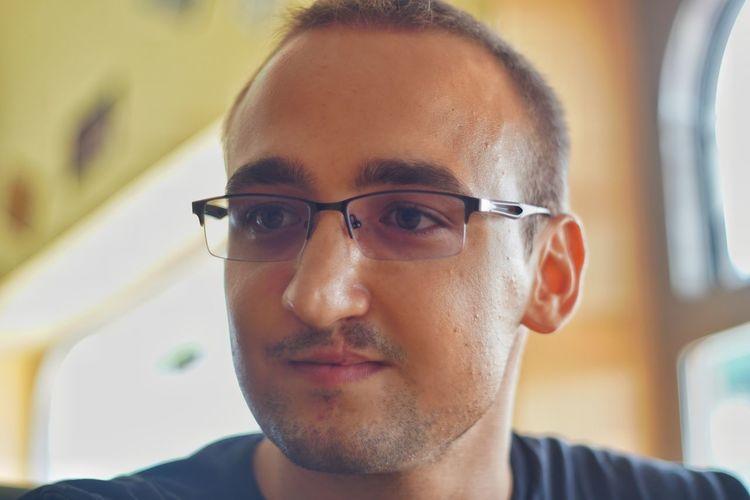 Blank Expression Stubble Man Selective Focus Portrait Men Headshot Eyeglasses  Mug Shot Head And Shoulders Glasses Caucasian