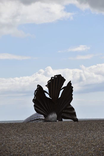 Aldeburgh Scallop Beauty In Nature Blue Close-up Cloud Cloud - Sky Cloudy Day Horizon Over Water Idyllic Landscape Nature No People Non-urban Scene Outdoors Remote Scenics Sky Suffolk, United Kingdom Sunny Tourism Tranquil Scene Tranquility Travel Destinations
