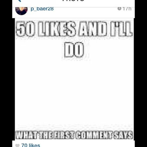 I got 70 likes... I'll do it when I find someone to record.. Why Mylifesuxs Imcrying