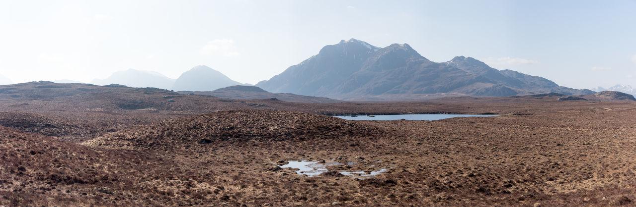 Photo Merge Photography Fionn Loch Lochin Scotland 💕 Day Highlands Of Scotland Moorland Wilderness Mountain Vista No People Sunny Day Tourist Destination Walkers Route