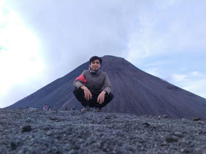 Climber who managed to conquer mount lokon