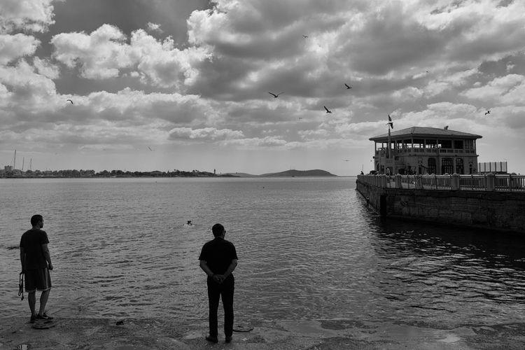 Men At Sea Of Marmara