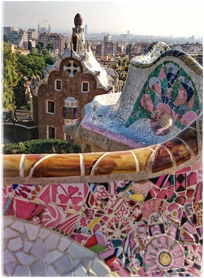 BunteFarbenüberall Parkguell Barcelona Antoni Gaudí Barcelonalove Antonigaudi Place2Be Traveldestination Bunte Welt Benchporn Benchlovers Multi Colored Close-up