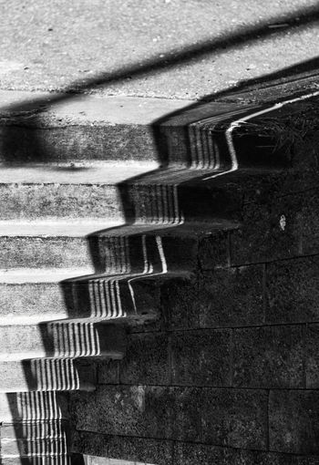 Dark Stairs Blackandwhite Day Deep Moody Nature No People Pattern Shadow Shadows Staircase Steps And Staircases