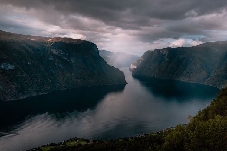 Fjords of Norway Norway Fjord Fjordsofnorway Scenics - Nature Beauty In Nature Water Cloud - Sky Mountain Sky Tranquil Scene Tranquility Non-urban Scene Mountain Range Idyllic Nature No People Environment Lake Remote Travel Outdoors Flowing Water Travelling Landscape_Collection Nature Photography