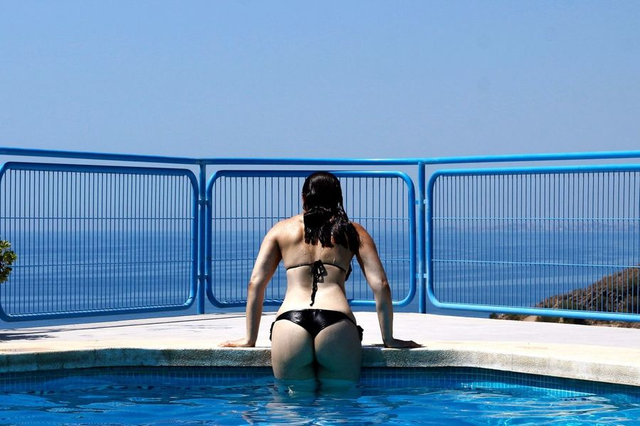 Relaxing Taking Photos Enjoying Life Summer 2016 Swimwear Mywifeismymodel Boudoir Swimming Pool Swimmingsuit Bikini Time❤ Bikinimodel Bikini