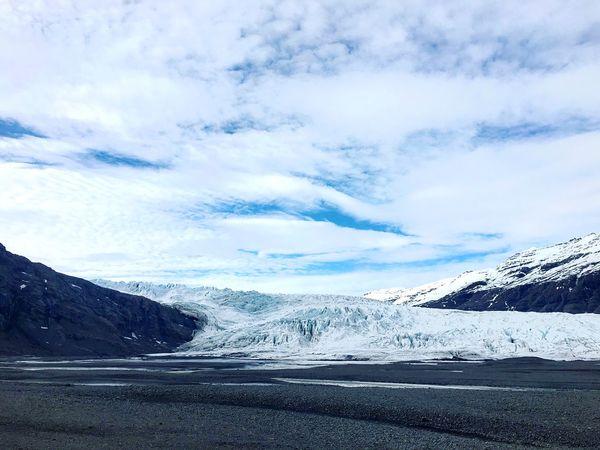 Iceland Glacier Landscape lovely Blue