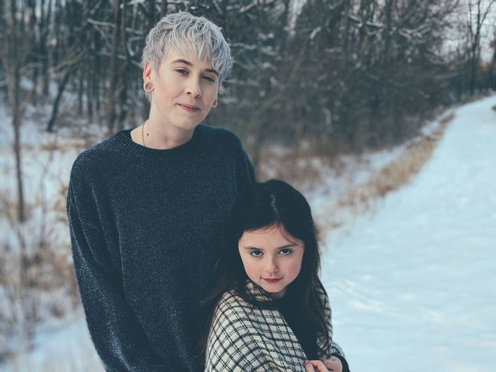 my family. wife and daughter Love Lgbt Lesbian Nature Silly Fun Sweet Beautiful Tree Nature Park  Mother Daughter Play Family Woman Little Girl Warm Clothing Snowflake Portrait Friendship Snow Child Young Women Cold Temperature Beauty Togetherness Parent Family With One Child Offspring