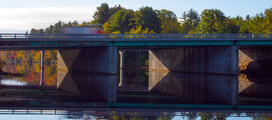 Architecture Bridge Bridge - Man Made Structure Day Lake Nature No People Outdoors Reflections Sky Slow Shutter Water EyeEmNewHere