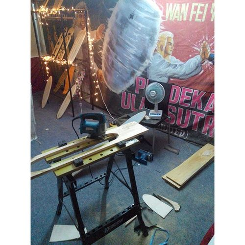 Workshop area ElBalasyk Cruiseandpose Exhibition Art Cruiser Board @ICE 6th 🏄‡🏂