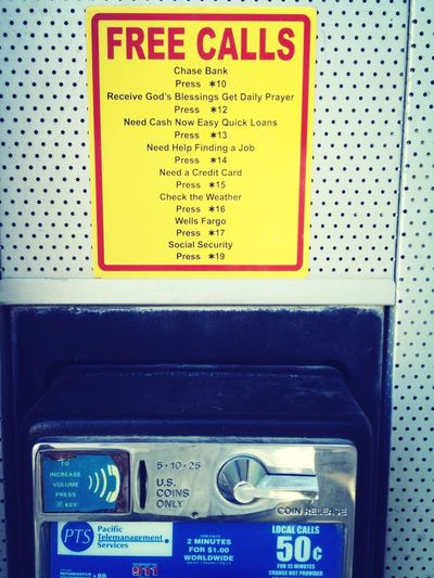Pay phone in Death Valley.