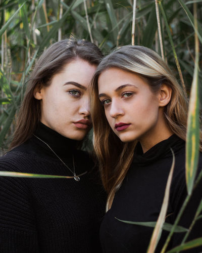 The Light Makeup Black Outfit Casual Clothing Close-up Friendship Garden Leaf Leaves Lifestyles Nature Outdoors Portrait Togetherness Two People Women The Portraitist - 2018 EyeEm Awards