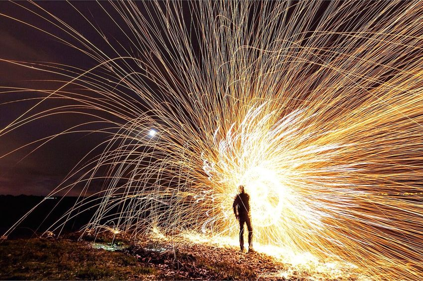 Steel Wool Painting Lightpainting Light And Shadow Night Long Exposure Steelwoolphotography Sparks Nightphotography Lightpainting_photography