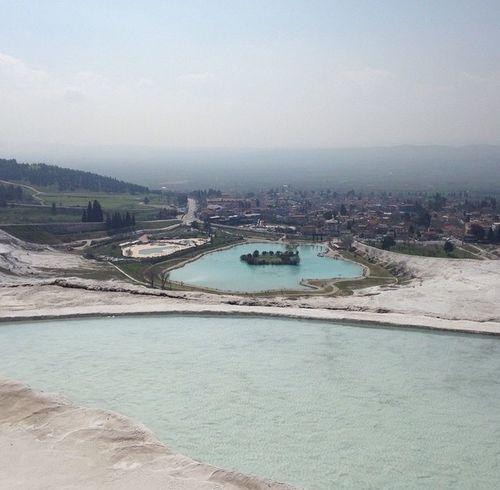 Pamukkale Pamukkale Travertenleri Turkey Traveling Travel Travel Photography IPhoneography Nofilter Enjoying Life Lake