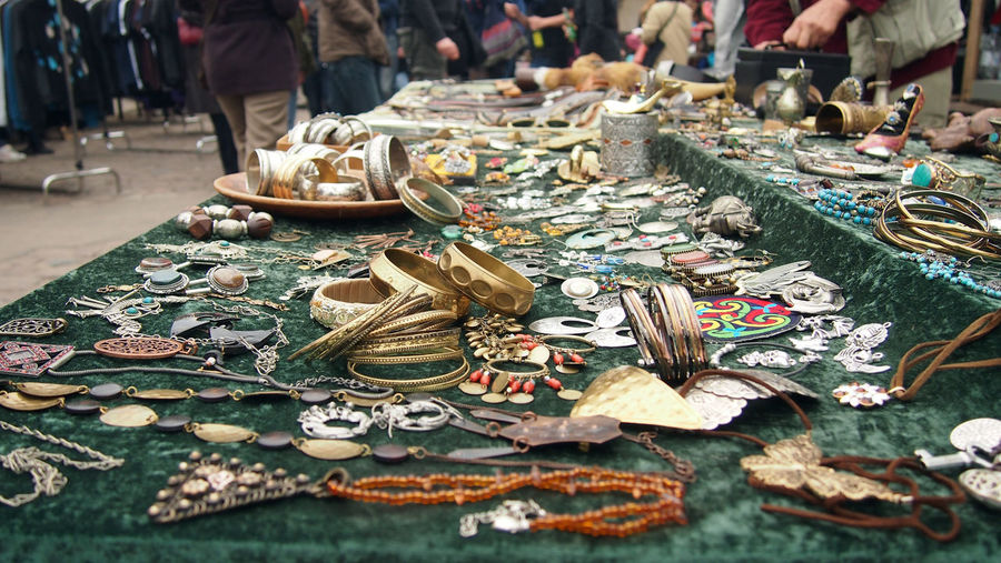 Berlin fleamarket at Mauerpark Berlin Berlin Photography Choice Close-up Day For Sale Gold Handmade Jewellery Large Choice Large Group Of Objects Large Group Of People Market Marketplace Mauerpark Objects Outdoor Outdoors Retail  Selling Selling On The Street Silver  Variation