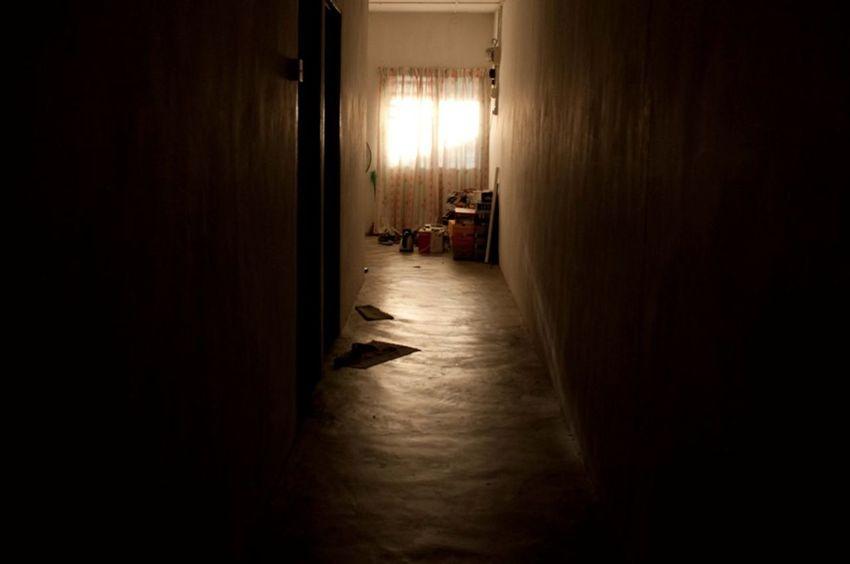 Bright Hallway Indoors  No People Orang Lights Sunset Sunset Light