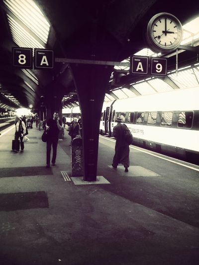Black And White Train Station AMPt - Escape Traveling