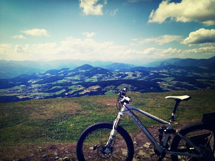 Mountain Biking Amazing View Hot Weather Training