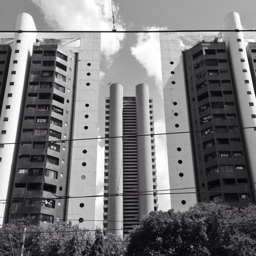 Between buildings Godrej Architecture Design Blackandwhite Godrej Mangroves Perspective Localtrain
