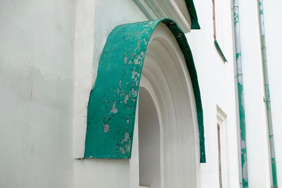 Architecture Building Exterior Built Structure Close-up Door Green Color Low Angle View Pattern Turquoise Colored Wall - Building Feature White Color Window