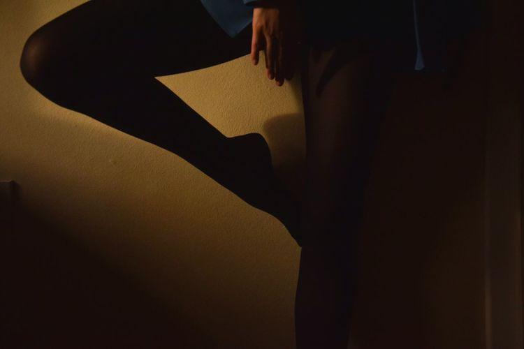 Young Adult Human Body Part Young Women ExpressYourself BeCreative Legs Legs Legs Dancing Indoors  People EyeEm Best Edits EyeEm Best Shots EyeEmBestPics Beauty Shadows & Lights Black