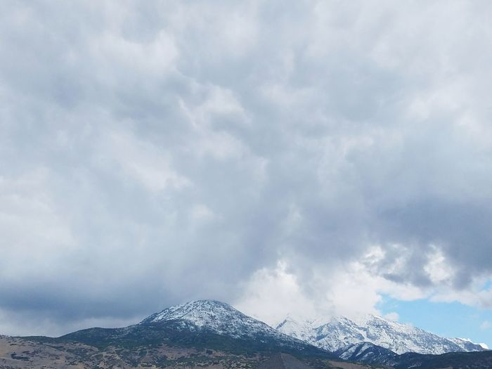 Cloud - Sky Snow Mountain No People Outdoors Day Tranquility Winter Nature ScenicsNature Dramatic Sky Utah Scenery Mt.Baldy Utah Mountains Cold Temperature Sky Beauty In Nature