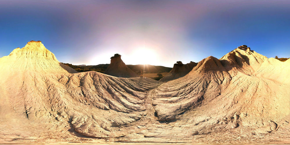 Arid Climate Beauty In Nature Day Desert Geology Komolithi Kreta Landscape Mountain Nature Outdoors Physical Geography Scenics Sky Sunlight Sunset Tranquil Scene Tranquility Travel Destinations