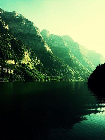 Swiss Mountains Lake View Green Lake I Love Switzerland !!!