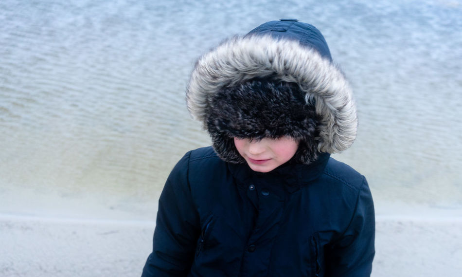 Portrait... Cold Cold Temperature Day Dunes Exceptional Photographs Fur Fur Hat Hood - Clothing Nature Nature_collection One Person Outdoors Warm Clothing Windy Winter Young Adult
