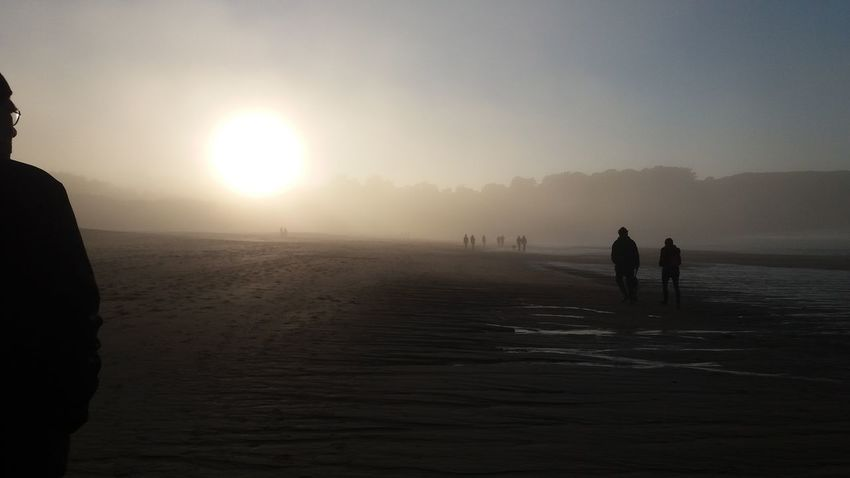 Silhouette Cold Temperature Water Outdoors Sky Sunset Fog Nature Beauty In Nature Winter People Adult Day Beach Sand Sea Bretagne North Northsea Foggy Day Foggy Landscape Foggy Weather Scenics