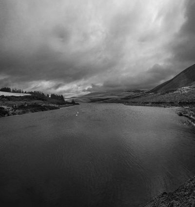 Clouds over the Pentland Hills on a walk around Threepmuir reservoir. Black And White Clouds Clouds And Sky Landscape Monochrome Nature Outdoors Pentland Hills Pentlands Scenics Scotland Sky