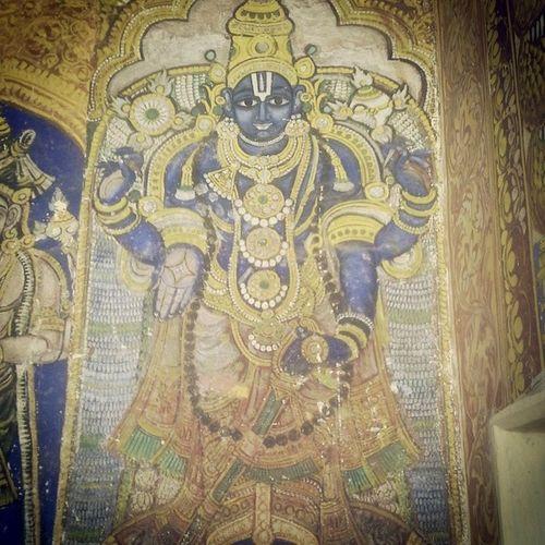Powerful experiences at the Vishnu temple today... that's my boy! Vishnu Srirangam Temple India