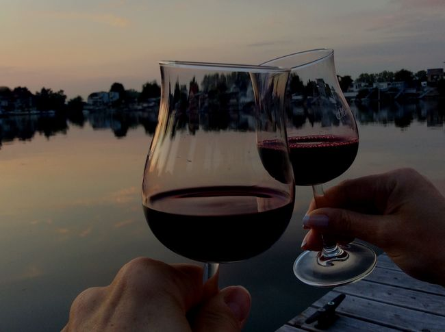 Human Hand Hand Holding Human Body Part Alcohol Wineglass HUAWEI Photo Award: After Dark Food And Drink Refreshment Glass Wine Drink Real People Sky Leisure Activity Red Wine Personal Perspective Body Part Finger Lifestyles Human Connection