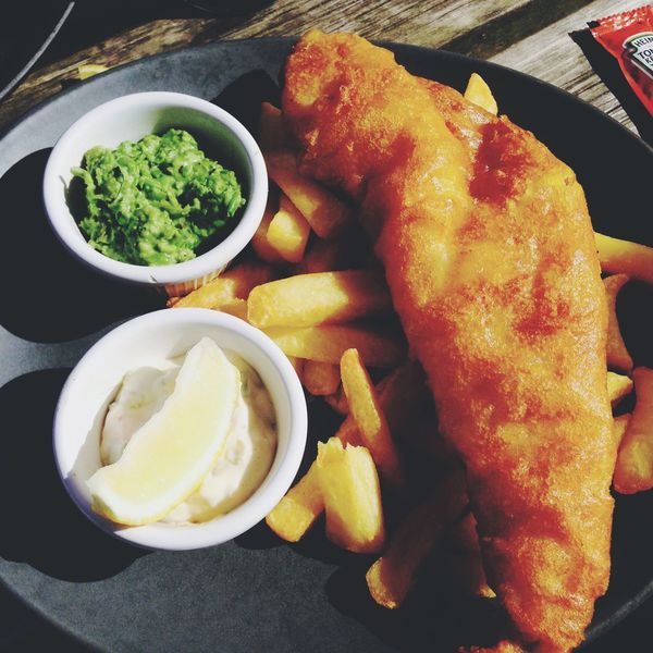 Fish n' chips by the English seaside